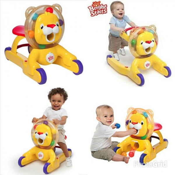 Bright starts 3 in 1 step n ride lion